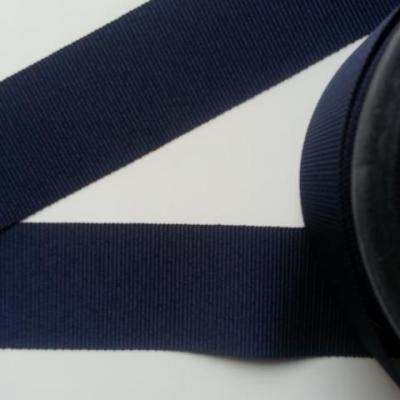 1 mètre de  ruban gros grain bleu marine 38mm de largeur