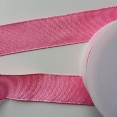 un mètre de ruban polyester rose  25mm