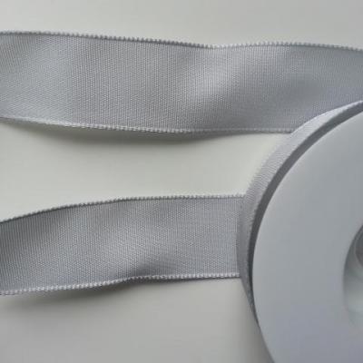 morceau de 1,9metre  de ruban polyester gris  25mm