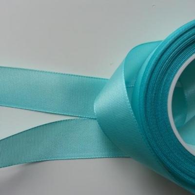 un mètre de ruban polyester vert eau  25mm