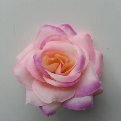 rose artificielle en tissu  de 60mm rose