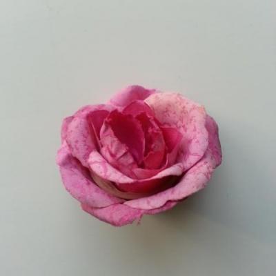rose en tissu 40mm rose
