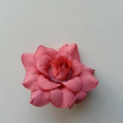 fleur en tissu de 40mm bordeaux clair