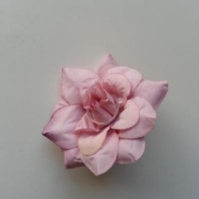 fleur en tissu de 40mm mauve
