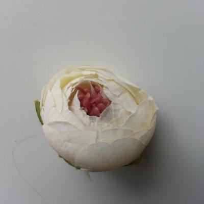 fleur artificielle tissu ivoire 35mm