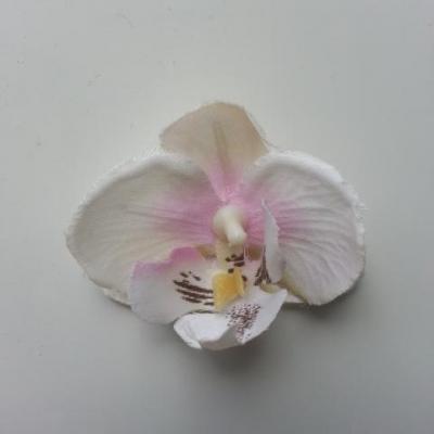 fleur artificielle orchidée blanche et rose 50mm