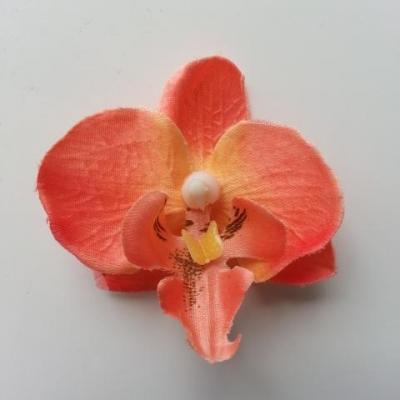 fleur artificielle orchidée peche 50mm