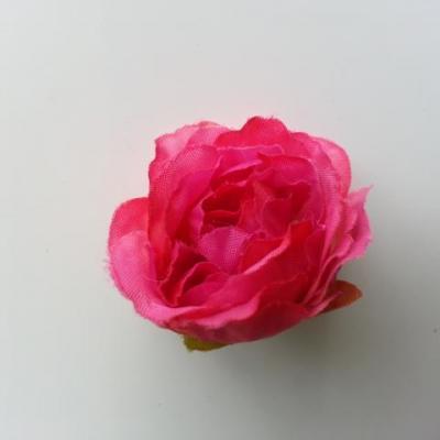 fleur tissu pivoine rose fuchisa  40mm
