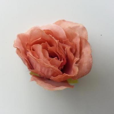 fleur tissu pivoine bronze 40mm