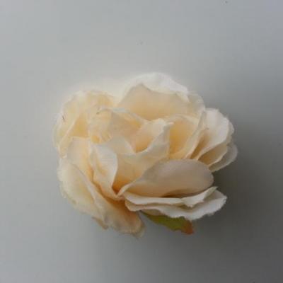fleur tissu pivoine ivoire foncé 40mm