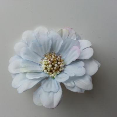 fleur artificielle en tissu 60mm bleu ciel