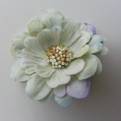 fleur artificielle en tissu 60mm vert clair