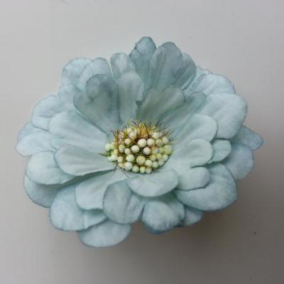 fleur artificielle en tissu 60mm bleu