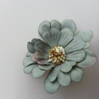 fleur artificielle en tissu 60mm vert foncé
