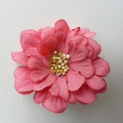 fleur artificielle en tissu 60mm vieux rose foncé