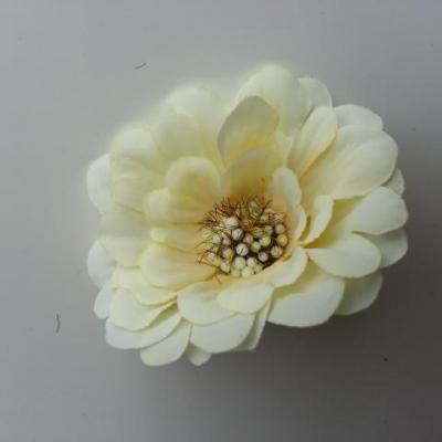 fleur artificielle en tissu 60mm ivoire