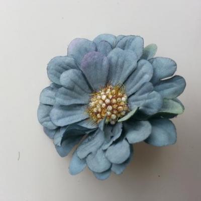 fleur artificielle en tissu 60mm bleu foncé