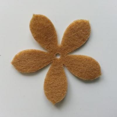 fleur en feutrine 45mm marron