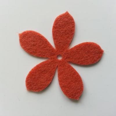 fleur en feutrine 45mm bronze