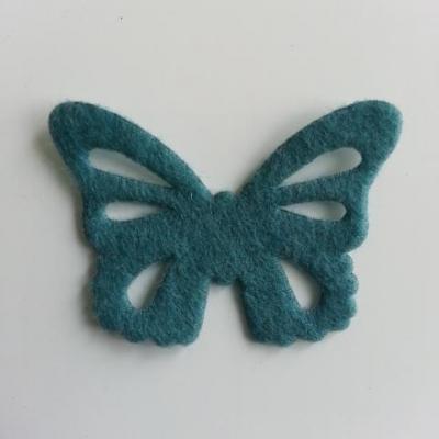 papillon en feutrine 45*32mm bleu petrole