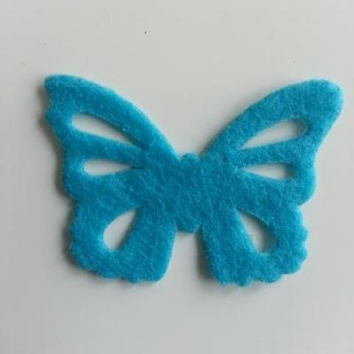 papillon en feutrine 45*32mm bleu turquoise
