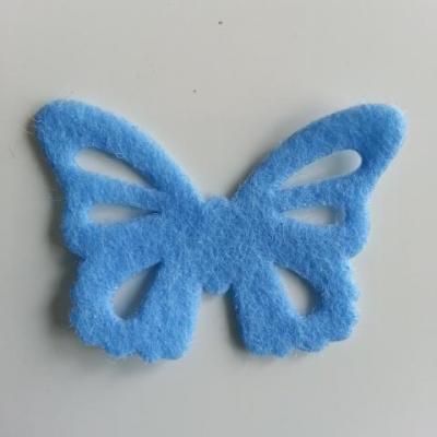 papillon en feutrine 45*32mm bleu ciel