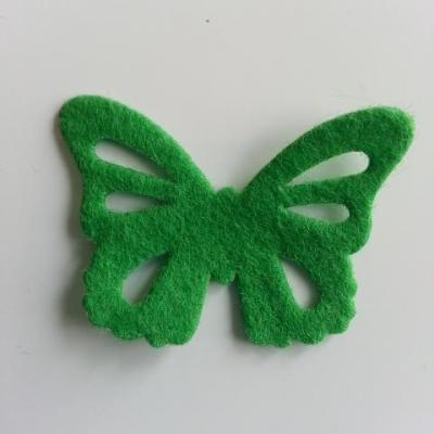 papillon en feutrine 45*32mm vert
