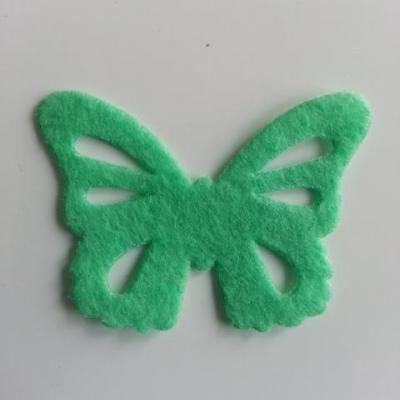 papillon en feutrine 45*32mm vert menthe