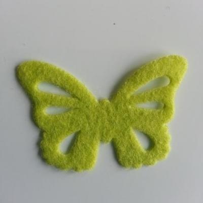papillon en feutrine 45*32mm vert tres clair