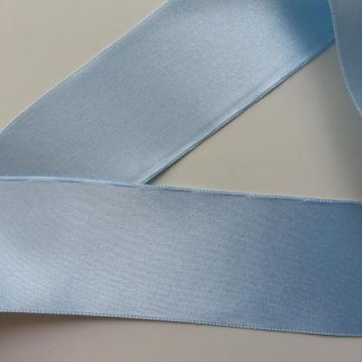 1 metre de ruban  de satin double face bleu  ciel 50 mm
