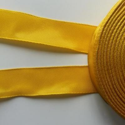 un mètre de ruban polyester jaune moutarde  25mm