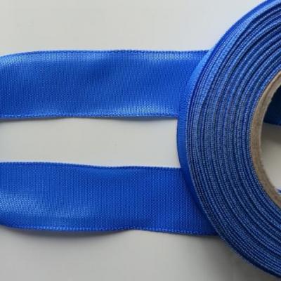 un mètre de ruban polyester bleu roi, royal  25mm