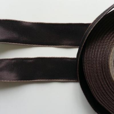 un mètre de ruban polyester marron  25mm