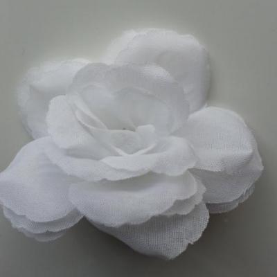 rose en tissu 70mm blanc
