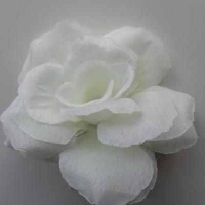 fleur en tissu  70mm ivoire