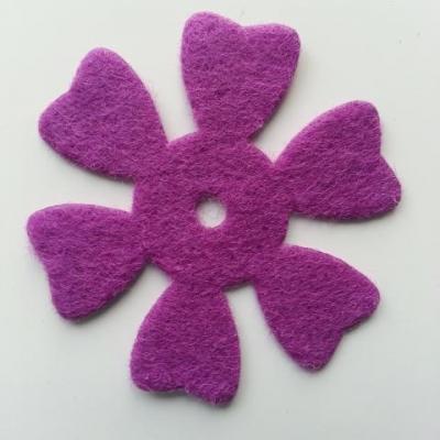 fleur en feutrine 50mm violet