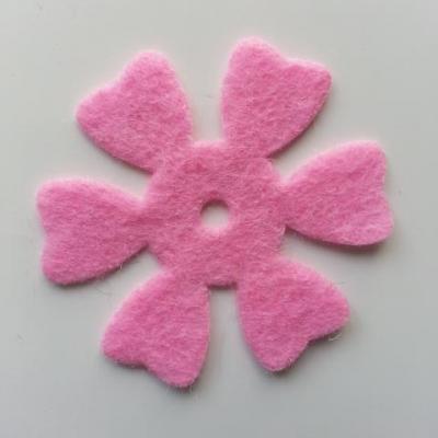 fleur en feutrine 50mm rose pale