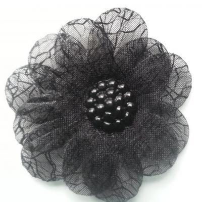 double fleur  voile 45mm noir