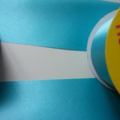 1 metre de ruban  polyester bleu turquoise 64 mm