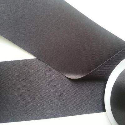 1 metre de ruban  polyester noir  64 mm
