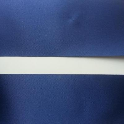 1 metre de ruban  polyester bleu marine 64 mm