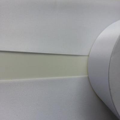 1 metre de ruban  polyester blanc  64 mm