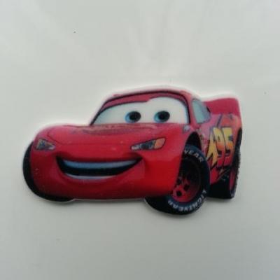 cabochon  plats en résine  voiture rouge cars flash 25*42mm (2)