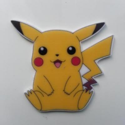 Cabochon  plat en résine pokemon  pikachu 40*40mm