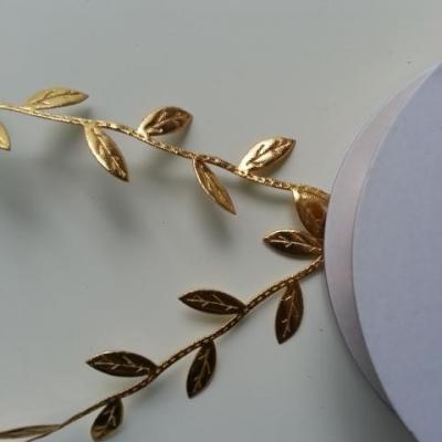 1 mètre de cordon  feuillage doré, or