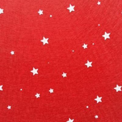N5 Carré de feutrine motif etoile 15*15cm blanc et rouge