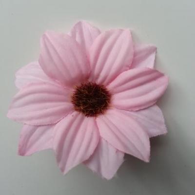 fleur artificielle marguerite en tissu 60mm rose pale