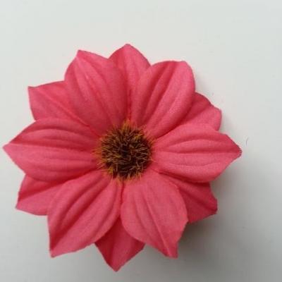 fleur artificielle marguerite en tissu 60mm bordeaux
