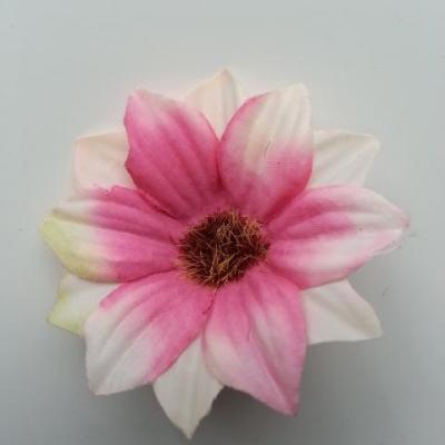 fleur artificielle marguerite en tissu 60mm rose et ivoire