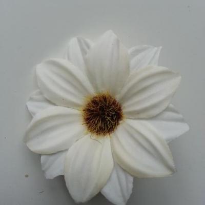 fleur artificielle marguerite en tissu 60mm ivoire